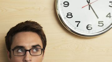 man-clock